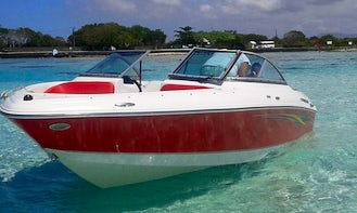 Rent a 19' Four Winns Bowrider in Mahebourg, Mauritius for up to 5 passengers
