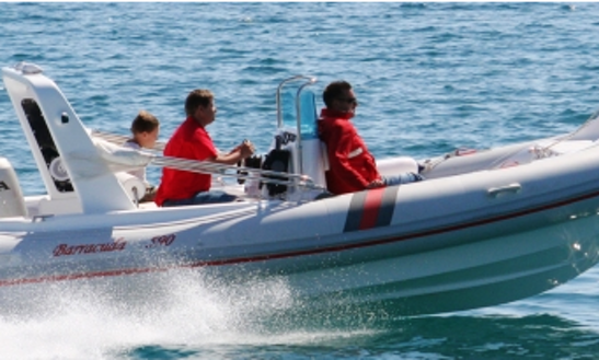 Rent 19' Barracuda 590 Sd 351 Kk Rigid Inflatable Boat In Punat, Croatia