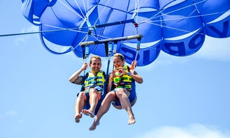 Enjoy an exciting parasailing adventure in Protaras fig tree bay, Cyprus