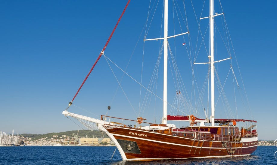 Charter a 125' Sailing Gulet wit 7 Cabins in Šibensko Kninska, Croatia