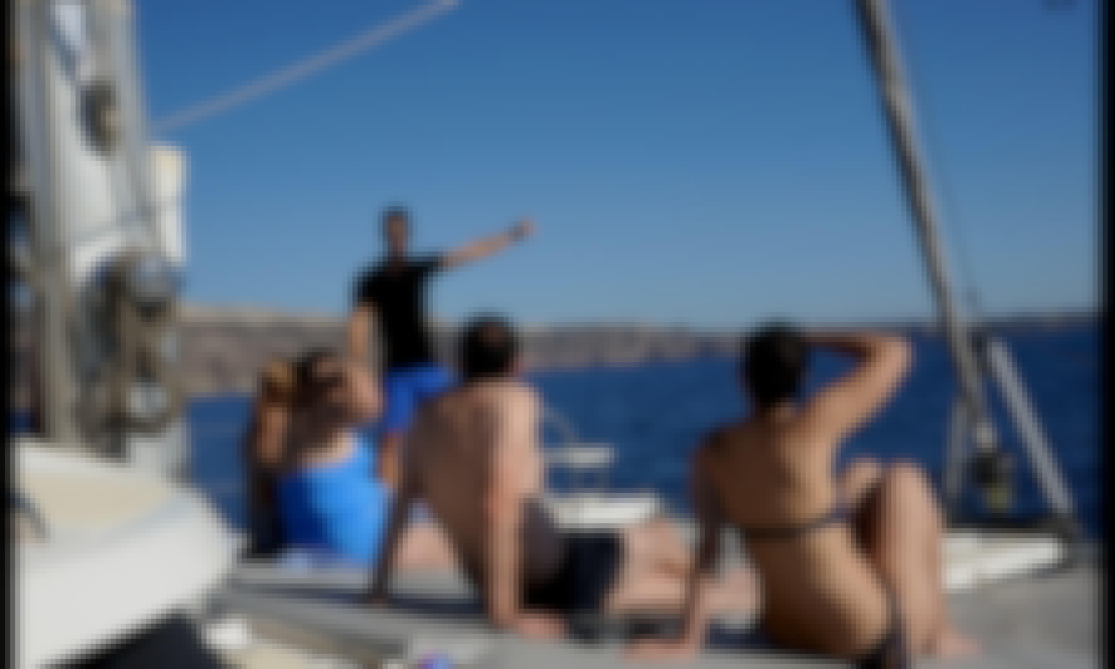 "42' Fountaine Pajot Venezia 42 ""Tag Heuer Sailing"" Cruising Catamaran Charter in Santorini, Greece"