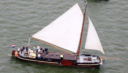 Charter 74' Traditional Barge In Muiden, Noord-holland