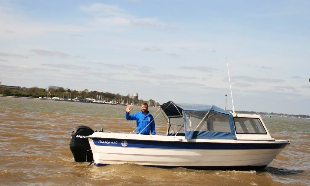 Hire the 21' Alaska 630 River Cruise Boat in Harwich, United Kingdom
