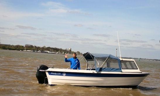 Hire The 21' Alaska 630 River Cruise Boat In Harwich, United Kingdom