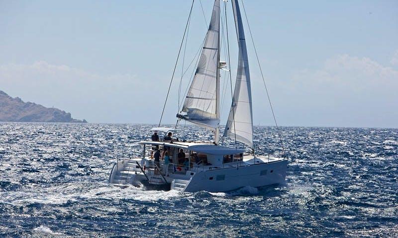 Charter 40' Lagoon Cruising Catamaran at Elba Island, Italy