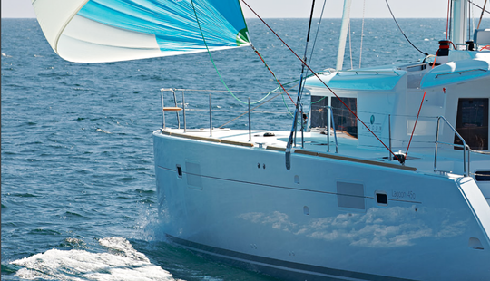Charter 45' Lagoon Cruising Catamaran At Elba Island, Italy