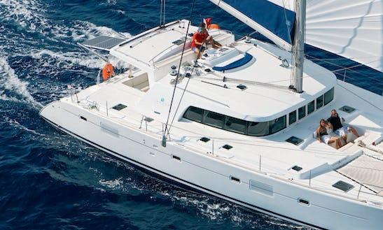 Charter 50' Lagoon Cruising Catamaran In Sardegna, Italy