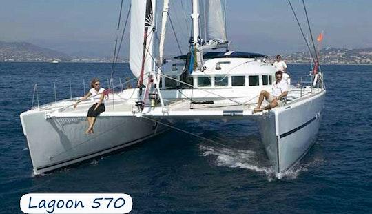 Charter 57' Lagoon Cruising Catamaran At Elba Island, Italy