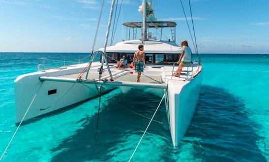 Charter 52' Lagoon Cruising Catamaran At Elba Island, Italy