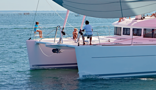 Charter 62' Lagoon Cruising Catamaran At Elba Island, Italy