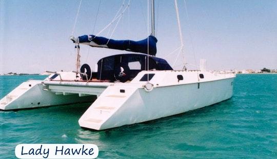 Charter 37'  Lady Hawke Cruising Catamaran In Sardegna, Italy