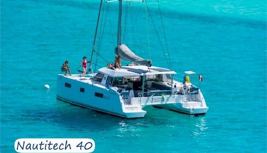 Charter 40' Nautitech Cruising Catamaran In Sardegna, Italy