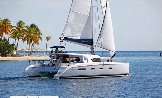 Charter 44' Nautitech Cruising Catamaran In Sardegna, Italy