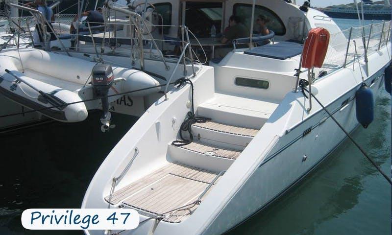 Charter 47' Privilege Cruising Catamaran in Sardegna, Italy