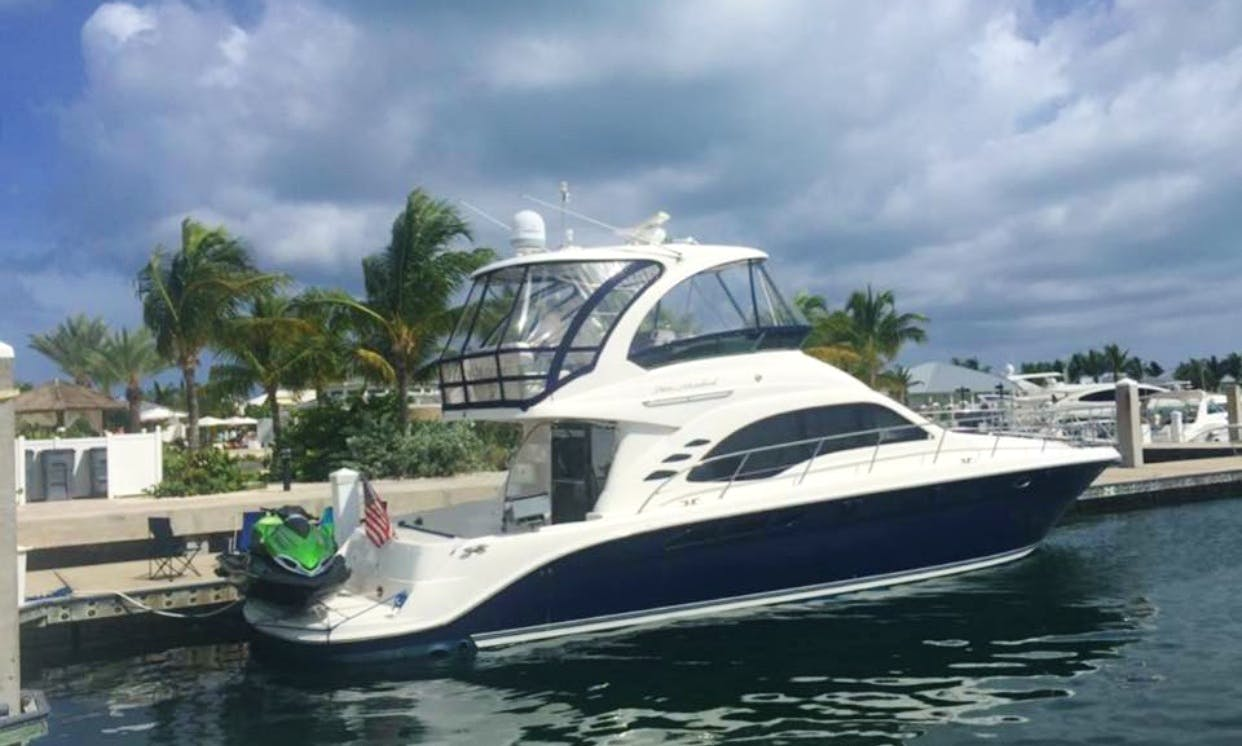 Charter 55' Searay Sedan Bridge Power Mega Yacht In Pompano Beach, Florida