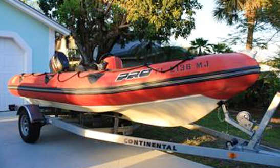 17' Zodiac Pro Rib Rental In Jensen Beach, Florida