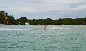 Waterskiing in Grand Port, Mauritius