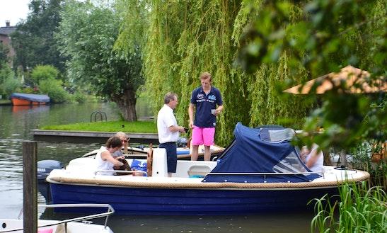 Rent A 9 Person Canal Boat  In Gelderland, Netherlands
