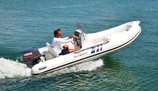 Rent 15' Orizon Rigid Inflatable Boat In Murter, Šibenik
