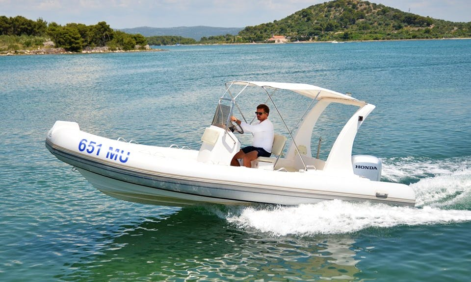 Rent 19' Rigid Inflatable Boat in Murter, Šibenik