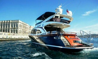 Spend the day in the beautiful sea of İstanbul, Turkey with this luxury motor yacht!