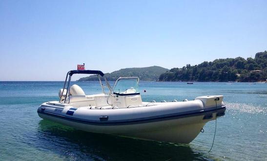 Rent A Rigid Inflatbale Boat At Ahladies Beach, Sporades