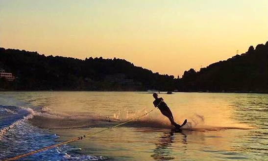 Enjoy Water Skiing At Ahladies Beach, Sporades