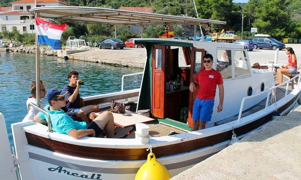 Charter Arcali Motor Yacht at Kornati Island, Croatia