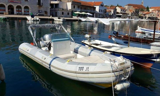 8 Person Rigid Inflatable Boat Rental In Vrboska, Dalmatia For Up To 8 Friends