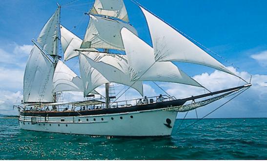 Charter 89' Schooner At Denarau Island, Fiji