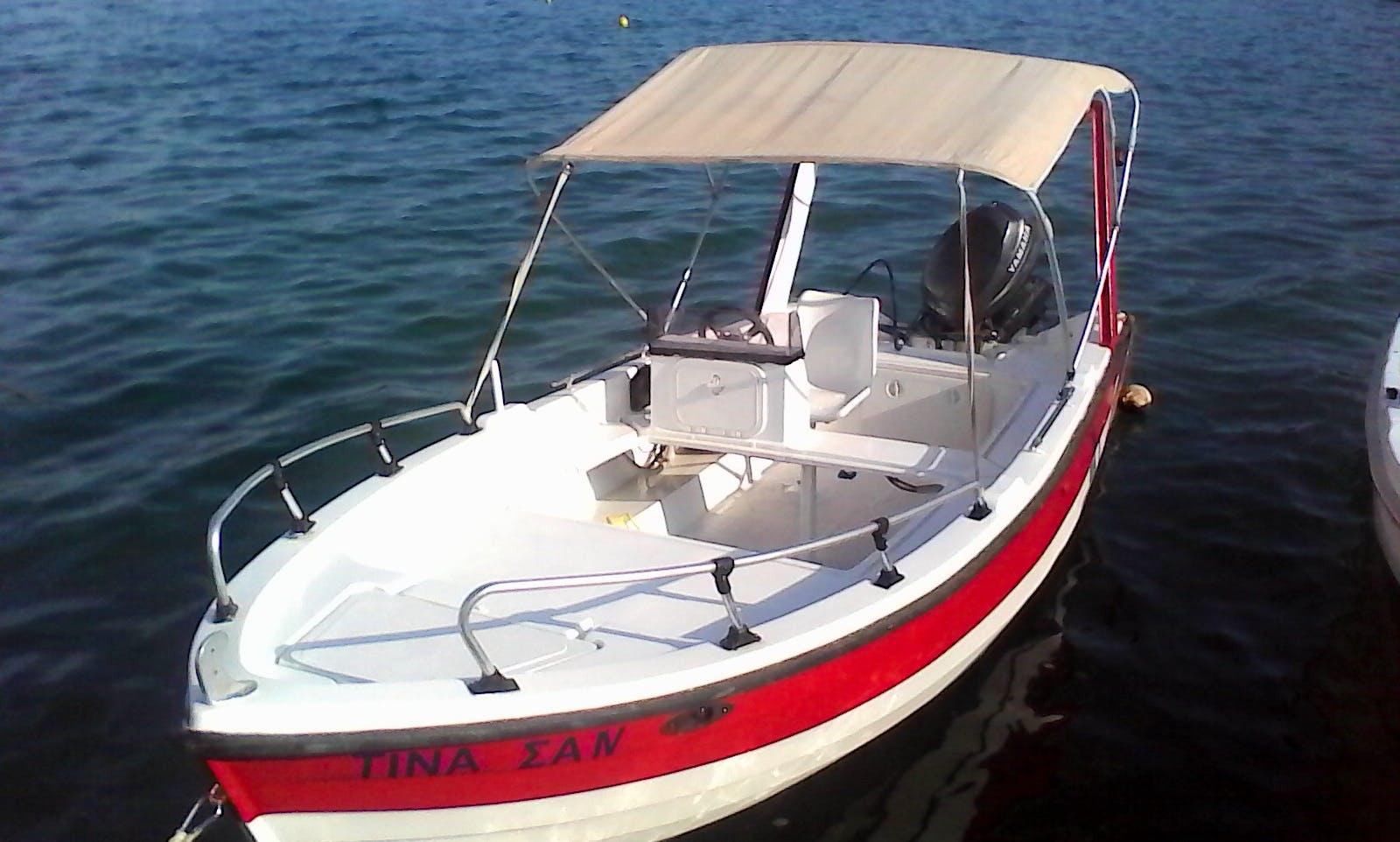 30-HP Self-drive boat for rent   in Elounda/Crete