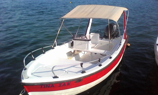 30-hp Self-drive Boat For Rent   In Elounda/crete