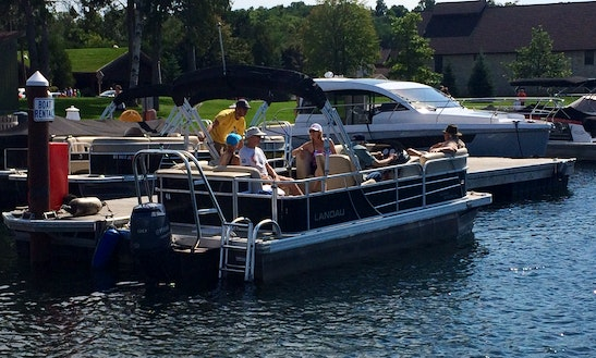 Rent 25' Party Barge Tritoon In Fish Creek, Wisconsin