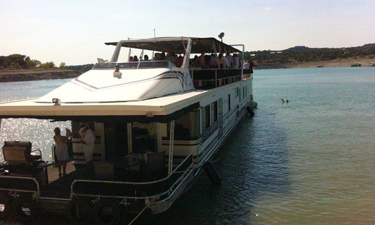 100' Houseboat Rental For 12 In Leander, Texas