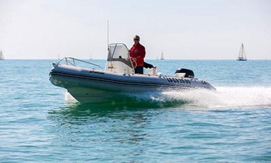 Rent 18' Zodiac Pro Open V500 Rigid Inflatable Boat In La Rochelle, France
