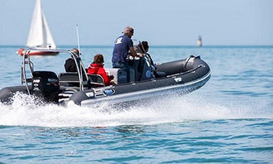Rent 21' Falcon 650sr Rigid Inflatable Boat In La Rochelle, France
