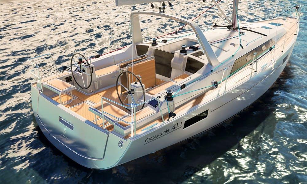 Charter 39' Oceanis 41.1 Cruising Monohull in Jezera, Croatia