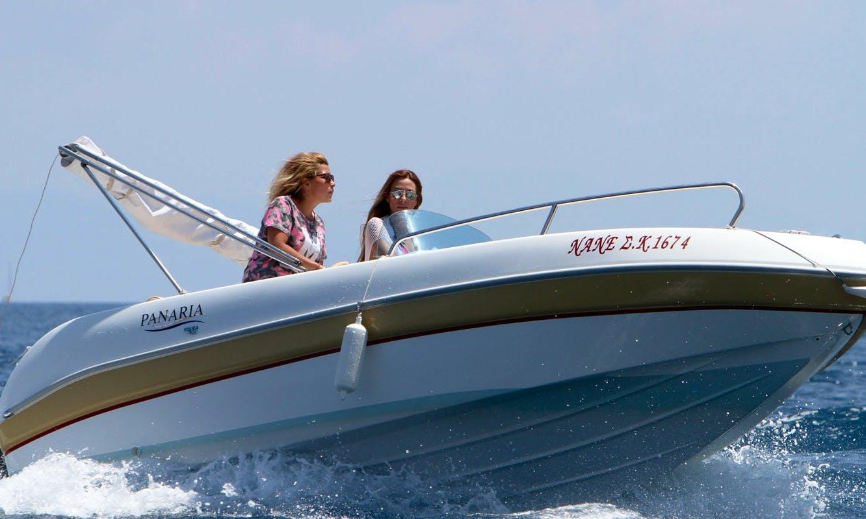 "Hire ""Nane"" Panaria 4.60 Power Boat in Kerkira, Greece"