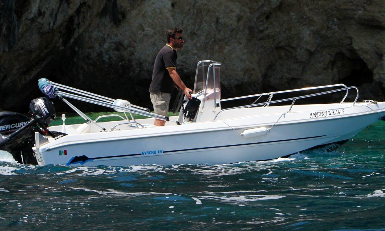 """Hire """"Antony"""" Capeli Cyncro 16 Power Boat in Kerkira, Greece"""