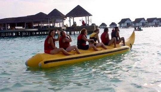 Enjoy Banana Rides In Amilla Fushi, Republic Of Maldives