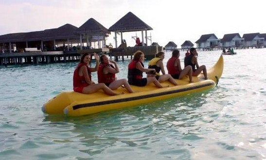 Enjoy Banana Rides In Amilla Fushi, Republic Of Maldives