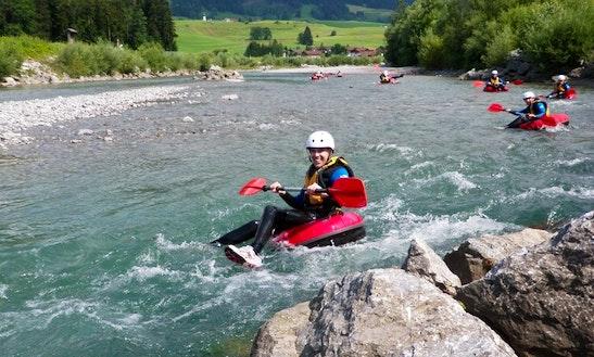 Enjoy River Tubing In Fischen Im Allgäu, Bavaria