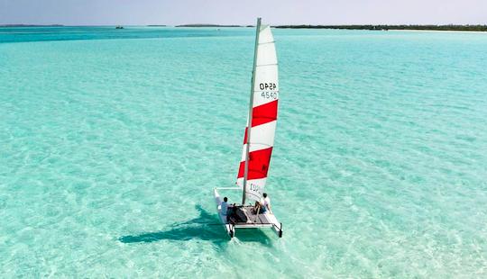 Enjoy Sailing Lessons In Amilla Fushi, Republic Of Maldives On A Beach Catamaran