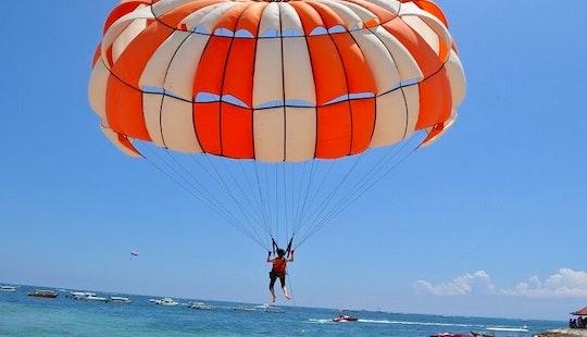 Enjoy Parasailing In Amilla Fushi, Republic Of Maldives