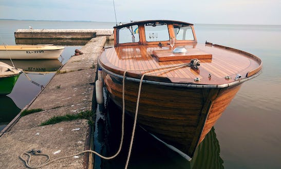 Amazing Tours With A Wooden Motor Boat In Klaipėda (lithuania)
