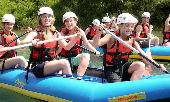 Enjoy Rafting Trips In Al Boschétt Cresciano, Switzerland