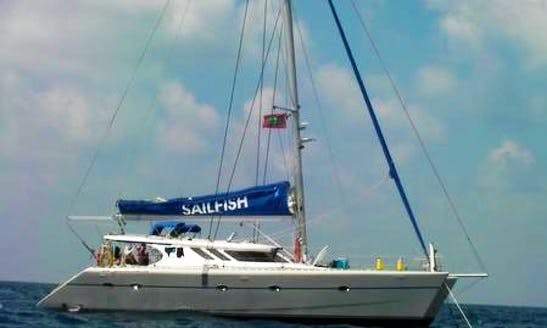 "Charter ""Sailfish"" Knysna 480 Sailing Catamaran In Maldives"