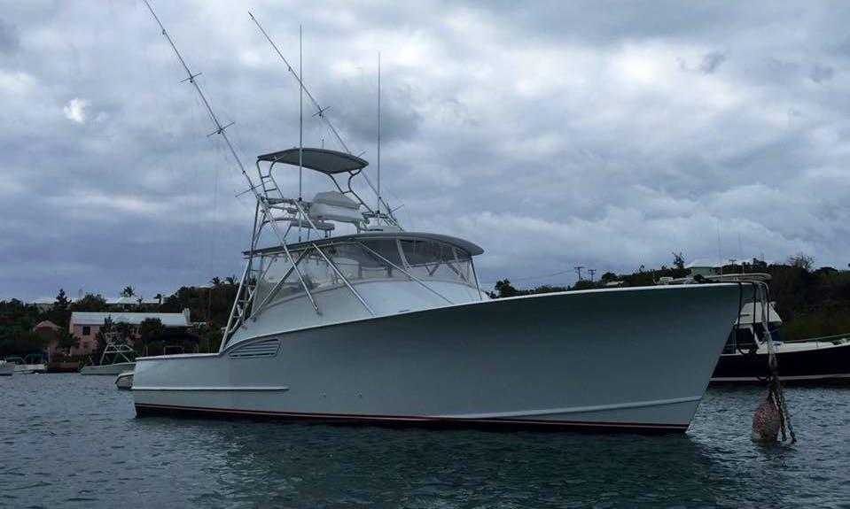 "Fishing in Bermuda on ""Pound for Pound"" a 42' Custom Carolina Sports Fisherman"