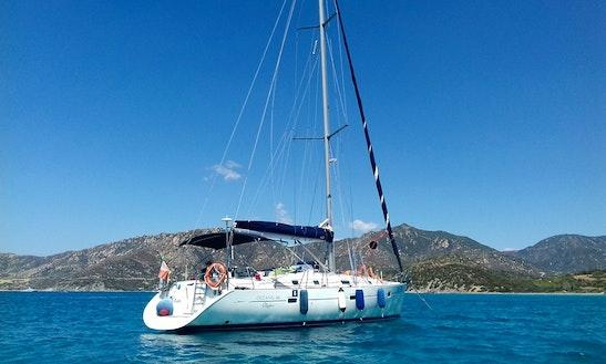 Charter 41' Beneteau Oceanis Clipper Cruising Monohull In Cagliari, Sardegna