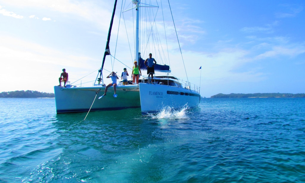 56 39 beach catamaran charter in panama panama getmyboat for Panama city beach party boat fishing